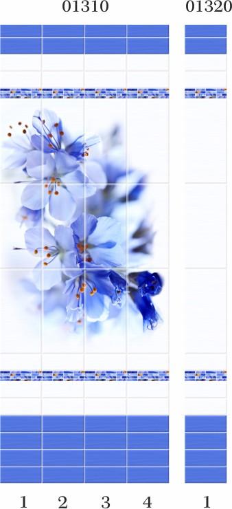 Синий цветок ПВХ