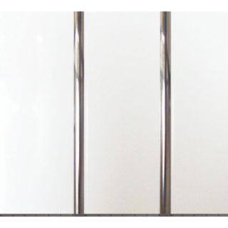 Потолочные белые ПВХ панели «Полоса серебро» 3-х секционная