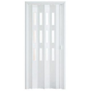 Дверь-гармошка Фаворит «Белый глянец»