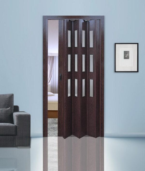 Дверь-гармошка Фаворит «Венге»