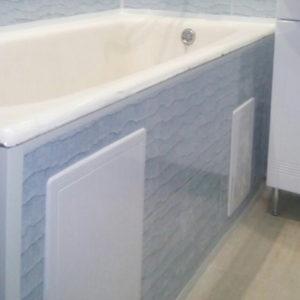Зашивка экрана ванной панелями